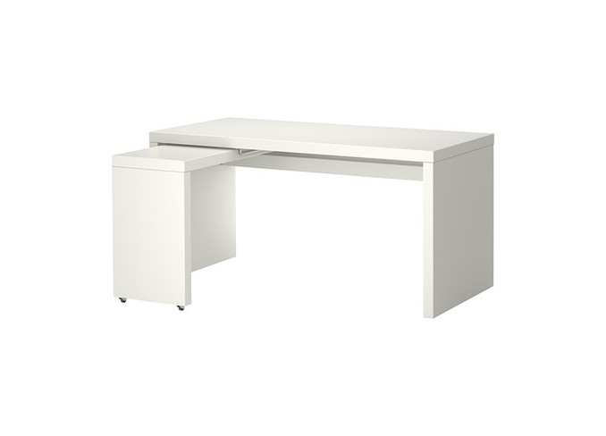 Ikea MALM Desk With Pull Out Panel Gallery 2