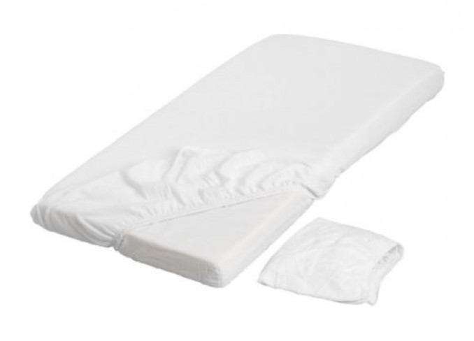 Ikea LEN Fitted sheet set-of-2 for cot gallery 1