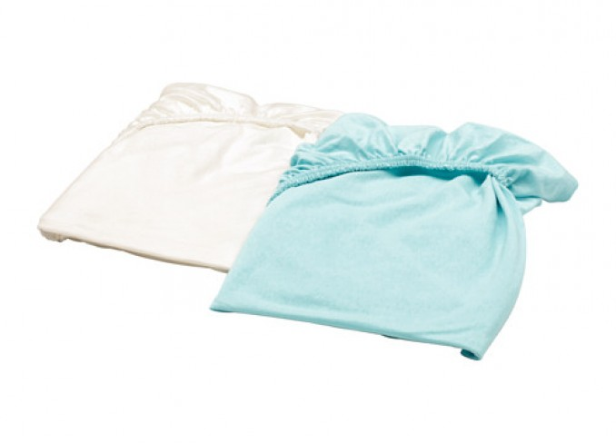 Ikea LEN Fitted sheet set-of-2 for cot gallery 2