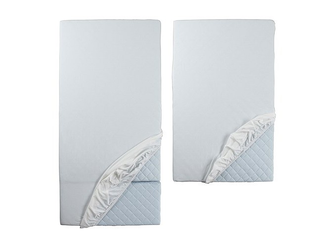 Ikea LEN Fitted sheet for ext bed, set of 2, white gallery 1