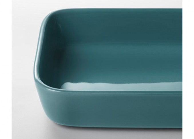 Ikea LYCKAD Oven/serving dish, blue gallery 3
