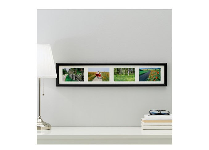 Ikea MARIETORP Frame for 4 pictures, black gallery 2