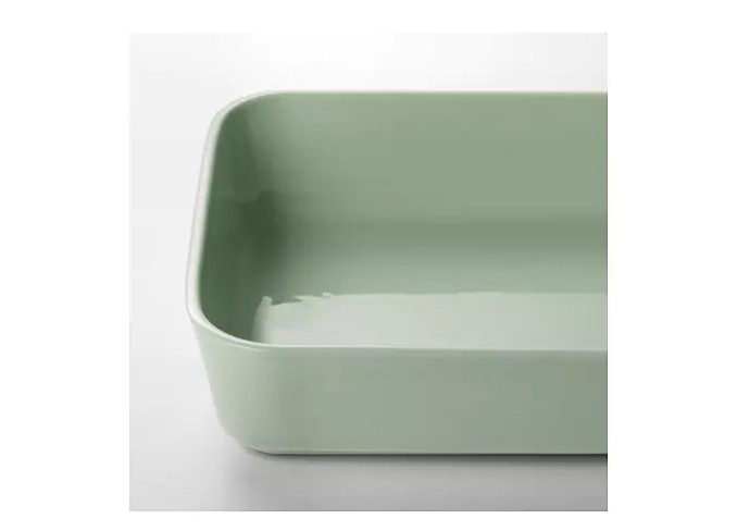 Ikea LYCKAD Oven/serving dish, green gallery 3