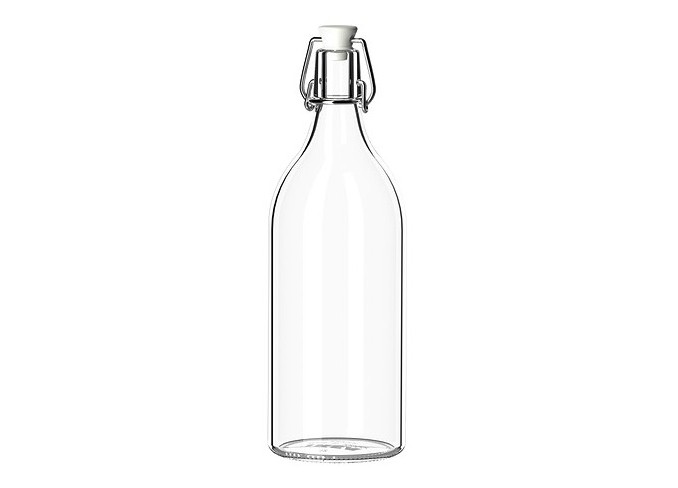Ikea KORKEN Bottle with stopper, clear glass gallery 1