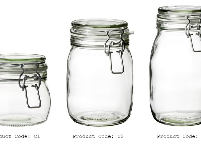 IKEA Glass Jar with Lid gallery 1