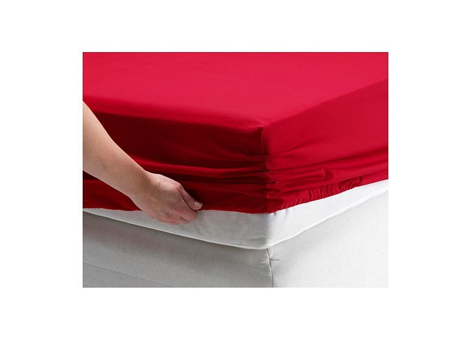 Ikea DVALA Fitted sheet (red) gallery 1